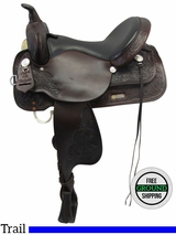 "16"" Used High Horse Mineral Wells Wide Trail Saddle 6812 ushh3526 *Free Shipping*"