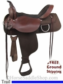 "16"" Used High Horse Trail Saddle, Wide Tree ushh2749 *Free Shipping*"