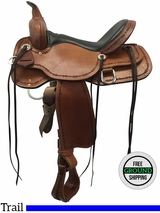 "16"" Used High Horse Winchester Wide Trail Saddle 6819, ushh3582 *Free Shipping*"