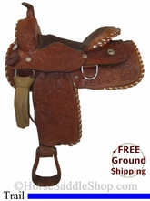 "16"" Used Jean Alexander Trail Saddle usun2758 *Free Shipping*"