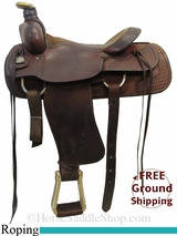 """SOLD 2015/07/13 16"""" Used Longhorn Roping Saddle, Wide Tree uslh3151 *Free Shipping*"""