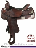 "PRICE REDUCED! 16"" Used Pleasure Saddle, Wide Tree usun2741 *Free Shipping*"