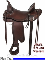 "16"" Used Reinsman Flex Trail Saddle, Wide Tree usrs2938 *Free Shipping*"