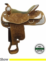 "16"" Used Reinsman Silver Series Medium Show Saddle usrs3344"