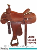 "16"" Used Rico Roping Saddle, Wide Tree usrc2667 *Free Shipping*"