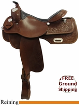"""SOLD 2015/08/23 16"""" Used Rocking R Reining Saddle, Wide Tree usrr3222 *Free Shipping*"""