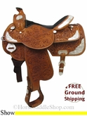"16"" Used Rocking R Show Saddle, Wide Tree usrr2777 *Free Shipping*"