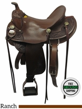 """SOLD 2016/09/23  16"""" Used Rocking R Wide Gaited Rancher 2670 usrr3534 *Free Shipping*"""