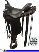"16"" Used RW Bowman Wide Trail Saddle 94, usrb3576 *Free Shipping*"