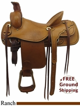 "16"" Used Saddle King Ranch Saddle ussk3260 *Free Shipping*"