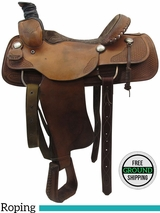 "16"" Used Sasser Wide Roping Saddle 9403 ussa3443 *Free Shipping*"