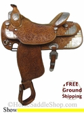 "16"" Used Silver Mesa Show Saddle, Wide Tree ussm2768 *Free Shipping*"