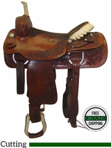 """SOLD 2016/10/11  16"""" Used Simco Wide Cutting Saddle 3828 ussc3449 *Free Shipping*"""