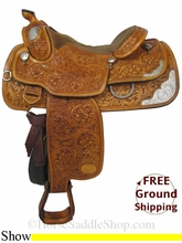 """16"""" Used Star of Texas Show Saddle, Wide Tree usst2845 *Free Shipping*"""
