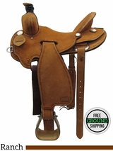 "16"" Used Teskey's Custom Medium Ranch Saddle usts3436 *Free Shipping*"