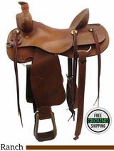 "SOLD 2016/06/08 16"" Used Teskey's Custom Wide Ranch Saddle usts3437 *Free Shipping*"