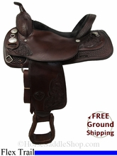 """SOLD 2014/08/26 $854.05 PRICE REDUCED! 16"""" Used Tex Tan Flex Trail Saddle ustt2822 *Free Shipping*"""