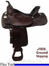 """SOLD 2014/11/16 $854.05 PRICE REDUCED! 16"""" Used Tex Tan Flex Trail Saddle ustt2822 *Free Shipping*"""