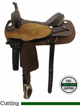 "16"" Used Tex Tan Medium Cutting Saddle 06087 ustt3396 *Free Shipping*"