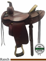 "16"" Used Tex Tan Medium Ranch Saddle 08-562 ustt3062"