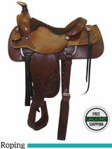 "16"" Used Tex Tan Medium Roper Saddle 1339 I 57-70915 ustt3467 *Free Shipping*"