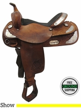 "16"" Used Tex Tan Medium Show Saddle ustt3392 *Free Shipping*"