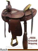 "16"" Used Tex Tan Ranch Saddle ustt3062 *Free Shipping*"
