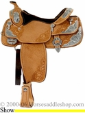 "16"" Western Pleasure Show Saddle by Billy Cook bi 9017"