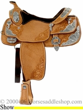 "DISCONTINUED 16"" Billy Cook Western Pleasure Show Saddle 9017"