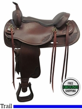 "PRICE REDUCED!  17.5"" Used Big Horn Draft Horse Saddle usbh3388 *Free Shipping*"