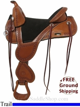 "15.5"" Circle Y Cloud Peak 1300 Treeless Trail Saddle, Wide Fit, uscy2986 *Free Shipping*"