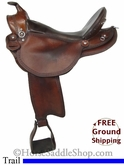 "17.5"" Used Eli Miller Trail Saddle usem2722 *Free Shipping*"