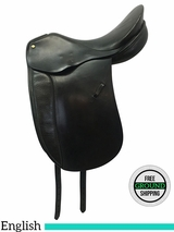 "17.5"" Used Thoroughbred Luhmuhlen Medium English Saddle 4770, ustl3578 *Free Shipping*"