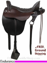 "PRICE REDUCED! 17.5"" Used Tucker Endurance Saddle ustk2832 *Free Shipping*"