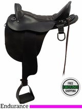 "PRICE REDUCED! 17.5"" Used Tucker Endurance Saddle ustk3190 *Free Shipping*"