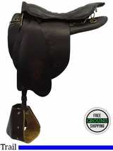 "SOLD 2016/05/05 17.5"" Used Tucker Trooper 138 Endurance Trail Saddle ustk3240 *Free Shipping*"