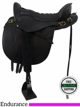 "17.5"" Used Tucker Equitation Endurance Trail Saddle 149 ustk3473 *Free Shipping*"