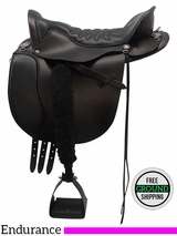 "SOLD 2016/06/21 17.5"" Used Tucker Ex Wide Equitation Endurance Trail Saddle 149, ustk3427 *Free Shipping*"