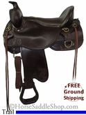 "PRICE REDUCED! 17.5"" Used Tucker Trail Saddle, Extra Wide Tree ustk2723 *Free Shipping*"