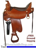 "PRICE REDUCED! 17.5"" Used Tucker High Plains Trail Saddle ustk2618 *Free Shipping*"