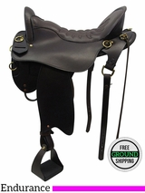 "17.5"" Used Tucker Vista Endurance Trail Saddle 153 ustk3441 *Free Shipping*"