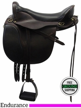 "17.5"" Used Tucker Wide Endurance Saddle 147 ustk3464 *Free Shipping*"