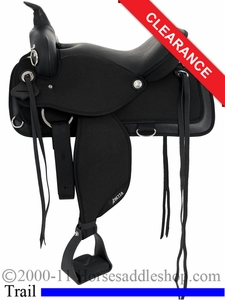 "SOLD 2014/06/19 $457.20 17"" Abetta Brushpopper Trail Saddle 20555"