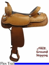 "PRICE REDUCED! 17"" American Saddlery 526 Flex Trail Saddle, Wide Tree, Floor Model usam3177 *Free Shipping*"