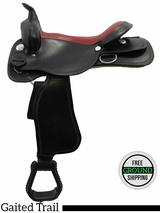 """PRICE REDUCED! 17"""" American Saddlery Midnight 552 Gaited Trail Saddle, Floor Model usam3161 *Free Shipping*"""