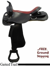 "PRICE REDUCED! 17"" American Saddlery Midnight 552 Gaited Trail Saddle, Floor Model usam3161 *Free Shipping*"