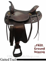 "PRICE REDUCED - New 17"" Big Horn Tennessee 1700 Gaited Trail Saddle, Wide Tree usbh3132 *Free Shipping*"