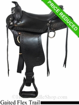 "17"" Big Horn Western Flex Gaited Saddle 1684"