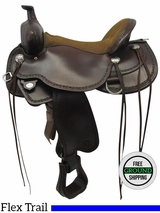 "17"" Circle Y Alpine Medium Trail Saddle 2377, Floor Model uscy3557 *Free Shipping*"