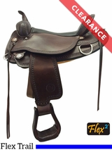 """SOLD 2017/02/17 17"""" Circle Y Copper Mine Wide Flex2 Trail Saddle 1565 CLEARANCE"""